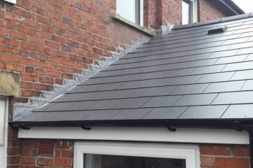 Slate Tile Roofing in Sacriston